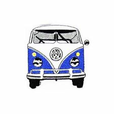 Volks Van Blue (Iron on) Embroidery Applique Patch Sew Iron Badge