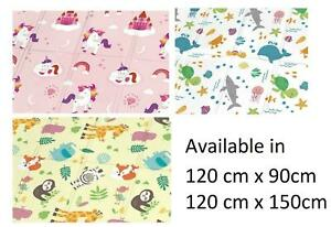 Roll/ Foldable Baby Play Mat Super Soft Foam Crawling Nursery Toddler Rug