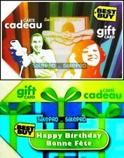 2x BEST BUY 2009 HAPPY BIRTHDAY PLAYING CONSOLE IPOD COLLECTIBLE GIFT CARD LOT