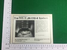 MCI JH-110-8 sistema Vintage anuncio 1980 8 Track Studio Grabadora