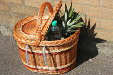 VINTAGE STYLE HANDMADE high-quality  WICKER picnic BASKET FOR BIKE, bicycle