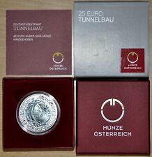 "25 Euro SILBER/NIOB 2013 "" TUNNELBAU "" im Etui inkl. Folder"