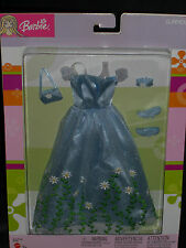 2003 GLAMOUR BEAUTIFUL EMBROIDERED FLOWER PRINT BARBIE GOWN FASHION #B8190!!