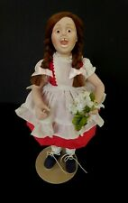 """Norman Rockwell Porcelain Character Doll """"Suzy"""" Rumble Seat 1980 Flowers"""