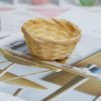 1/12 Dollhouse Miniature Bread Fruits Toast Bamboo Basket Kitchen DIY Craft Tool