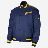 Nike NBA Golden State Warriors City Edition Courtside Jacket Men's Blue Outwear