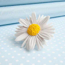 DAISY  BROOCH  flower jewellery  MADE IN WALES  UK Handpainted