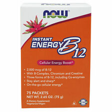 Vitamin B12 B-12 Powder | High Energy On-The-Go Powder Sachets | 75 Packs