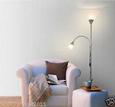 Modern Style E27 Silver 2 Lights Stainless Steel Living Room Bedroom Floor Lamp