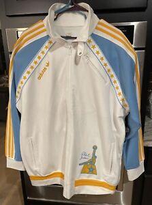 Very Rare Adidas Men's Athletic Jacket W Abdul Jabbar Basket Ball Logo