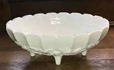 """Colony / Indiana Harvest Milk Glass Vtg Centerpiece 12"""" Oval Footed Bowl Euc"""