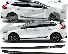 Volvo V40 R Design side Stripes decals stickers Quality fit any colour HEXIS
