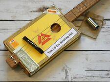 More details for shonky 3 string acoustic cigar box guitar, + stainless steel stubby slide. #224