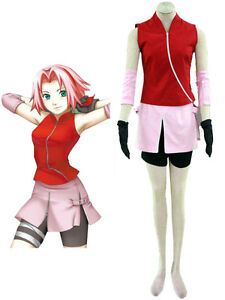 Naruto Shippuden Sakura Haruno Cosplay Costume Women's girls set