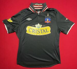 colo colo chile soccer jersey shirt top black mens large