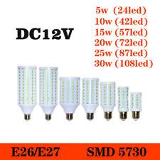 Bright E27 LED Corn Bulb Lamp Screw Base Socket DC12V bulbs light Cool White