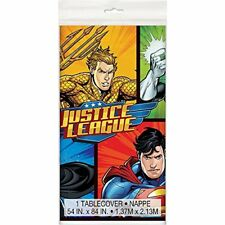 Justice League Plastic Tablecloth, 7ft x 4.5ft  49963 NEW