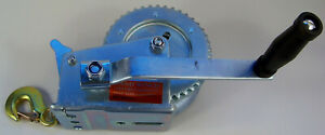 Hand Winch 1200 pound Capacity 10M Steel Cable with Hook Gear Ratio 41:10 new