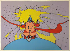 """PETER MAX """"ENTERING A NEW STATE"""" 1972   VINTAGE SIGNED PRINT   MAKE AN OFFER"""