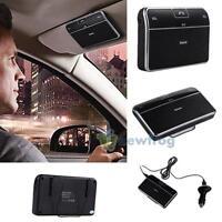 Bluetooth 4.0 Multipoint Hands-free Speakerphone Speaker Car Kit Sun Visor Clip