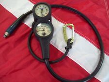 3 gauge scuba console oceanic depth and compass genesis pressure gauge used