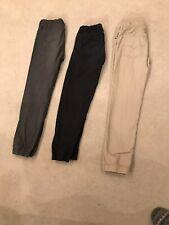 3 Original Levis Jogger Pants XL 14-16 School Grey, Black, Beige 💯 Cotton