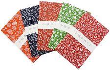"Japanese Traditional Towel ""Tenugui"" Small Pattern 5 type set Japan Import F/S"