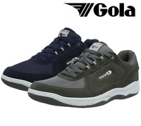Men's Gola Belmont Suede Leather Lace Up Comfort Wide Fit Trainers Shoes AMA727