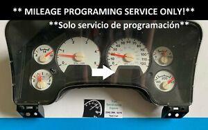 DODGE RAM GAS / DIESEL INSTRUMENT CLUSTER SPEEDOMETER *MILEAGE PROGRAM SERVICE*