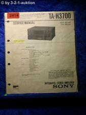 Sony Service Manual TA H3700 Amplifier  (#2414)
