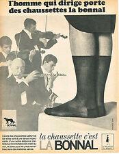 PUBLICITE  1966   LA BONNAL  chaussettes