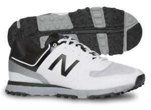 New Balance NBG518WK Golf Shoes Mens White/Black/Grey Lightweight New