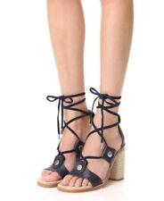 1175751739f6 NIB  450 Rag   Bone Eden Block Heel Sandal in Navy - size 9.5   39.5