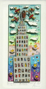 "James Rizzi ""King"" 3-D Construction Lithograph"