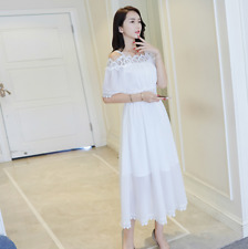 Women's White Dress Evening Party Cocktail Holiday Summer Beach Casual Sundress