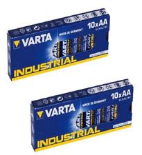 20 batterie AA Stilo Alcaline Industriali qualità VARTA 1,5 V box convenienza