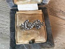Vintage Sterling Silver Dollar Sign Ring