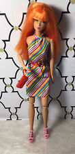 Barbie Striped Dress Outfit Clothes