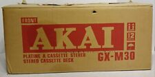 Akai GX-M30 Stereo Cassette Deck w/ Original Box Tested Working