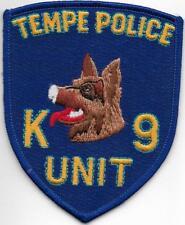 K-9  DHF ARIZONA Tempe Phoenix Police Patch Polizei Abzeichen Hundeführer USA