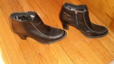 "SPORTO Black Ankle Boots 3"" Heels Size 8M"