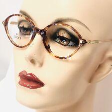 New Vintage Gucci Eyeglasses Multi Color Tortoise Gold Oval Transparent Frames