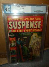 Atlas MARVEL Comics 4.5 SUSPENSE #25 1952 Golden horror Electric Chair pgx cgc