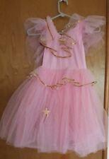 Girls Pink Princess Dress with Gold Trim size medium