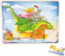 Flight of a dragon wooden jigsaw puzzle toddler kids pre-school 12 pieces