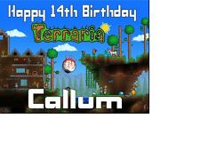 TERRARIA Birthday card Personalised A5