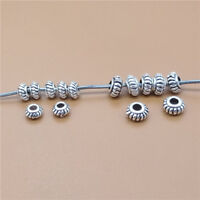 20 Sterling Silver Small Gear Beads 925 Silver Bracelet Spacer Beads