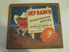 Wall Plaque: Sky Ranch Washington Apples advertisement (Cs-11)