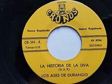 LOS ASES DE DURANGO - La Historia De La Uva / Tijereando 70's NORTENO LATIN nm-