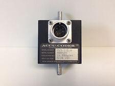 GUARANTEED ACCU-CODER INCREMENTAL SHAFT ENCODER 715-1-S-N PPR=64-100uSEC 5/28VDC